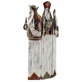 Tre Re Magi stilizzati statua metallo h 57 cm s3