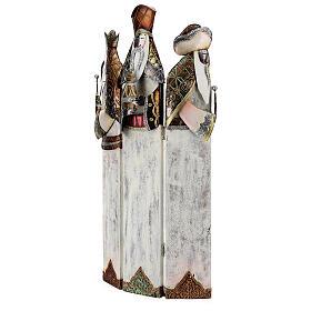 Tre Re Magi stilizzati statua metallo h 57 cm s4