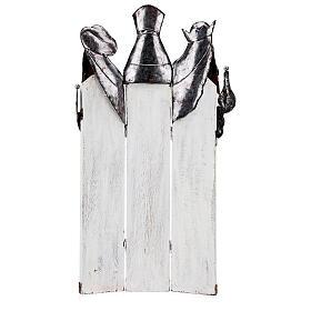 Três Reis Magos estilizados metal altura 57 cm s5
