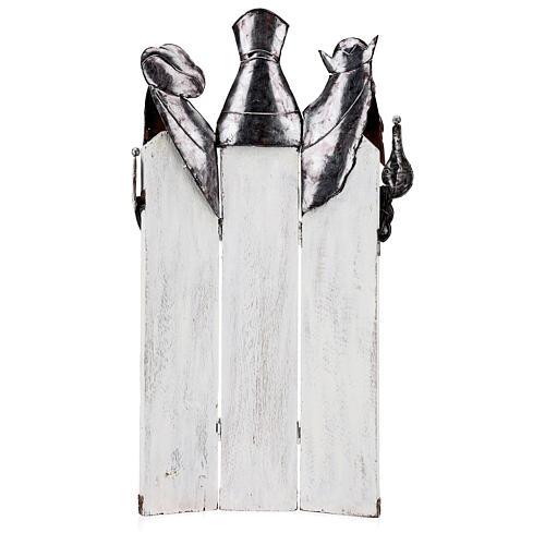 Três Reis Magos estilizados metal altura 57 cm 5
