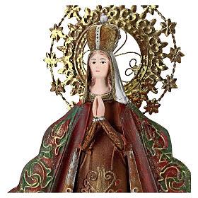 Statue Sainte Vierge auréole étoiles couronne métal h 51 cm s2