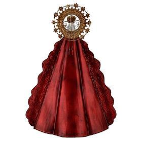 Statue Sainte Vierge auréole étoiles couronne métal h 51 cm s6