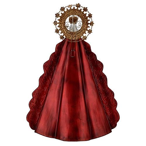 Statue Sainte Vierge auréole étoiles couronne métal h 51 cm 6