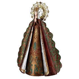 Statua Madonna aureola stelle corona metallo h 51 cm s4
