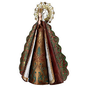 Mary statue with gold metal star halo, h 51 cm s4