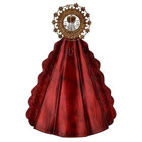 Mary statue with gold metal star halo, h 51 cm s6