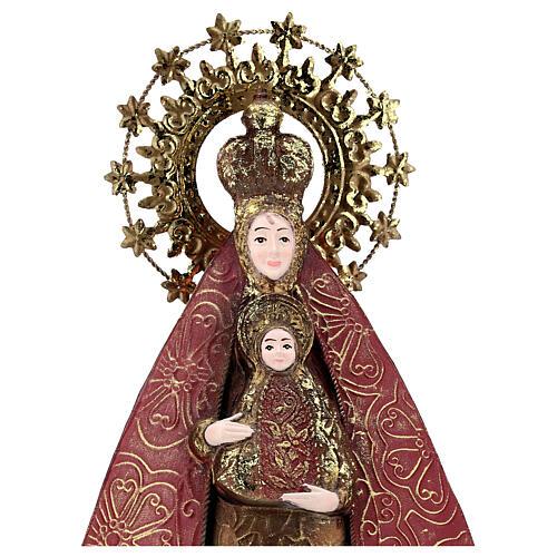 Virgen con Niño rojo oro estatua metal h 57 cm 2