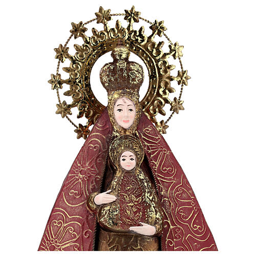 Mother Mary with Baby Jesus statue in metal, h 57 cm 2