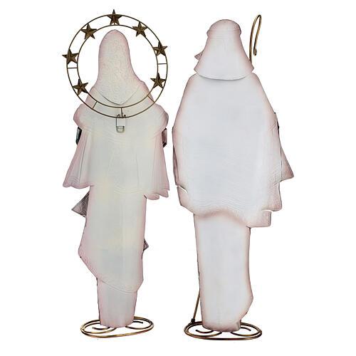 Natividad Reyes Magos estilizados metal 63x25x10 cm 9