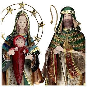 Presépio de Natal Natividade estilizada em metal com Reis Magos 63x25x10 cm s4