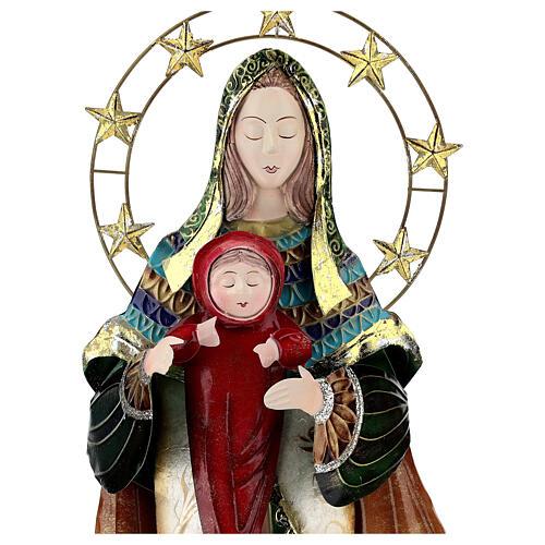 Presépio de Natal Natividade estilizada em metal com Reis Magos 63x25x10 cm 2