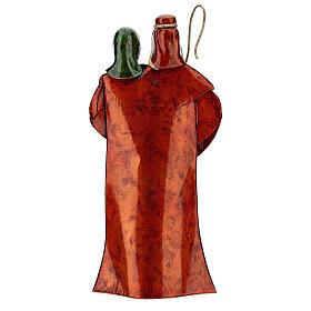 Statua Sacra Famiglia verde bianco rosso metallo 48 cm s5
