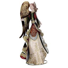 Anjo andando metal decoração dourada 36 cm s4
