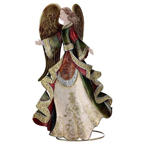 Anjo andando metal decoração dourada 36 cm 1