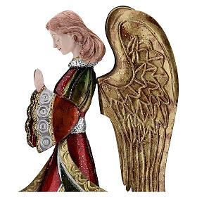 Angelo in preghiera statua metallo 36 cm s2
