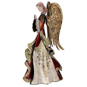 Angelo in preghiera statua metallo 36 cm s3