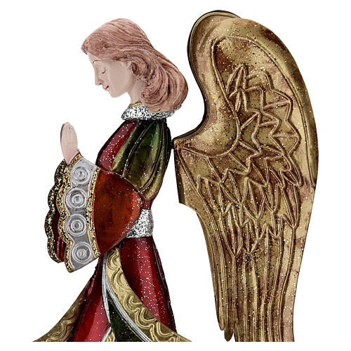 Angelo in preghiera statua metallo 36 cm 2