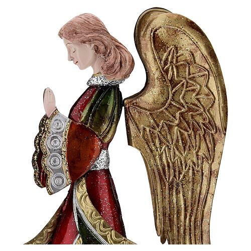 Anjo rezando figura metal 36 cm 2