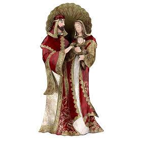 Sacra Famiglia rosso oro statua metallo h 49 cm s1