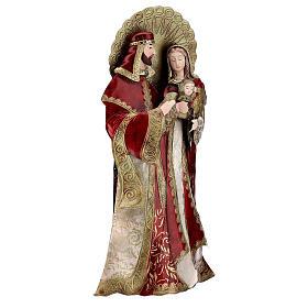Sacra Famiglia rosso oro statua metallo h 49 cm s4