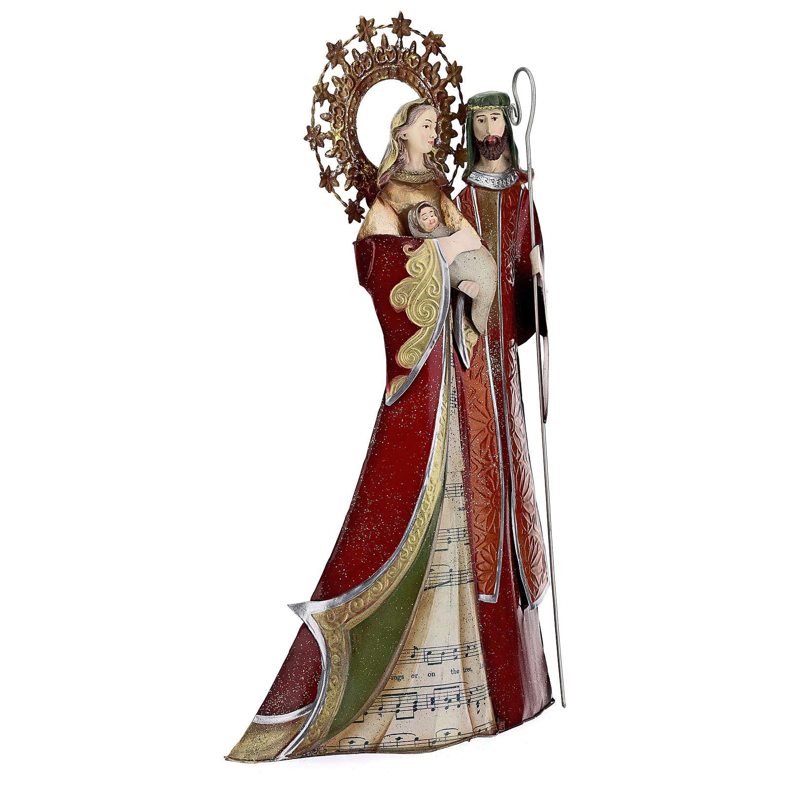 Sagrada Familia rojo pentagrama metal 30x15x10 4