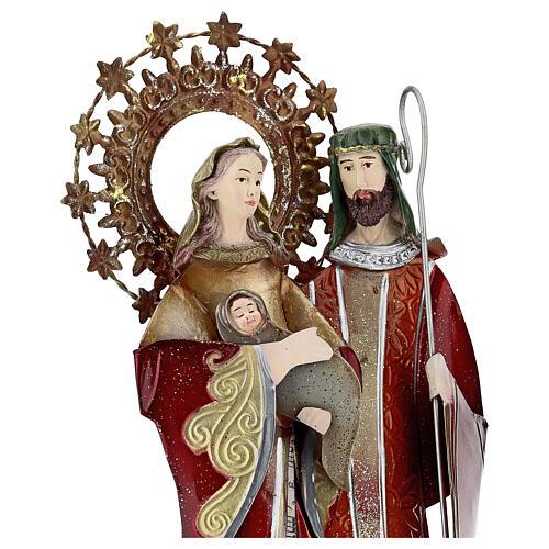 Sagrada Familia rojo pentagrama metal 30x15x10 2