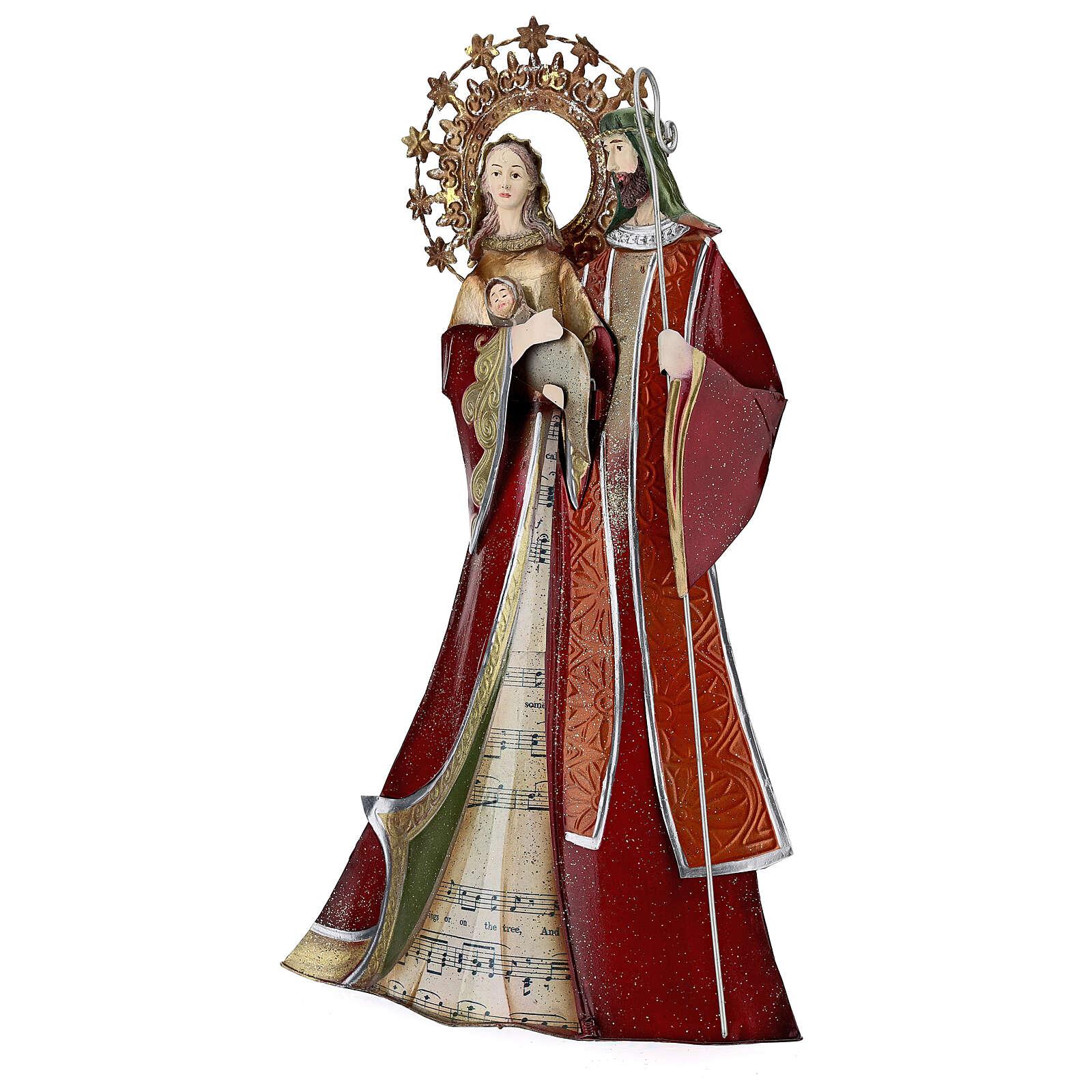 Sacra Famiglia rosso pentagramma metallo 30x15x10 4