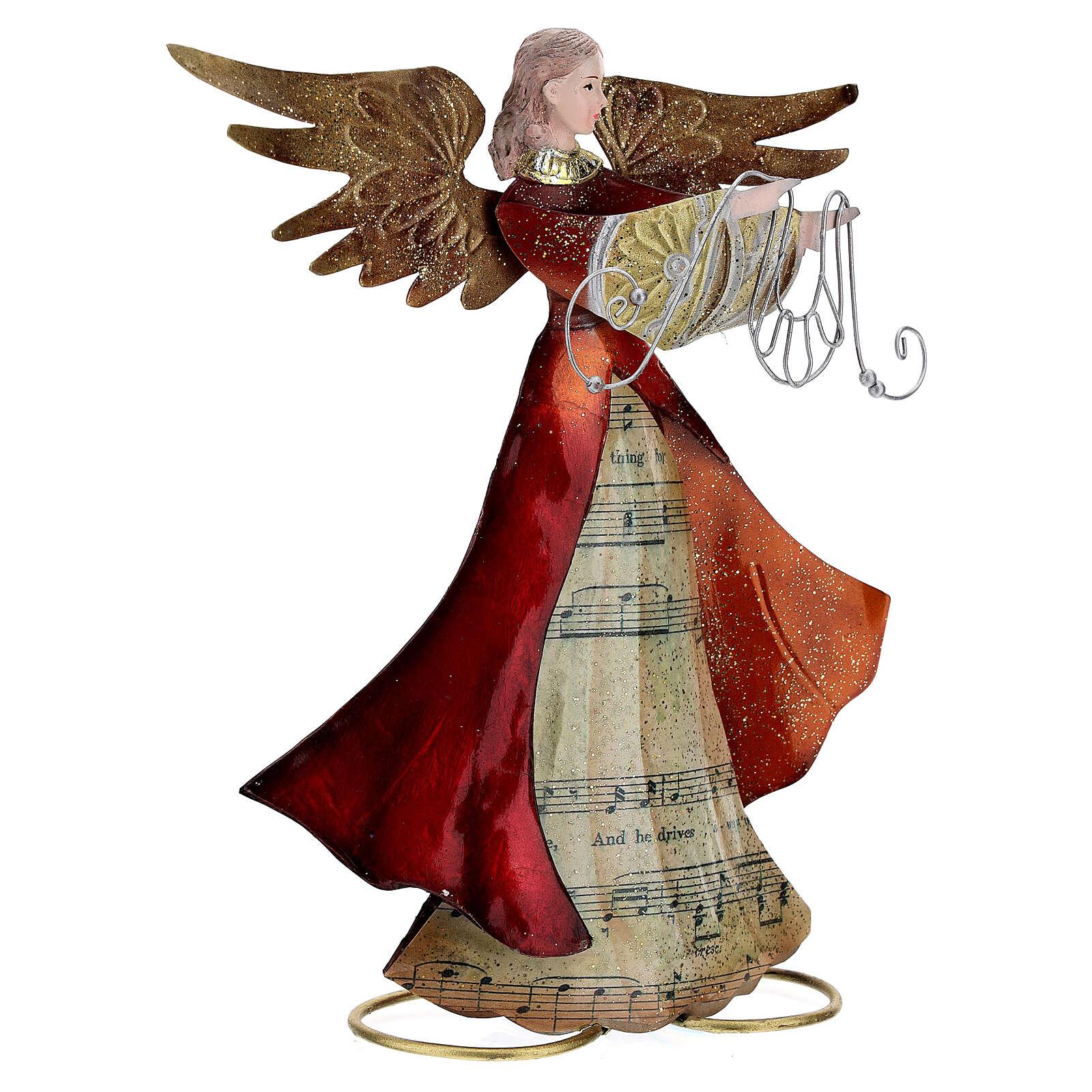 Ángel con cinta de perfil metal 28 cm 4
