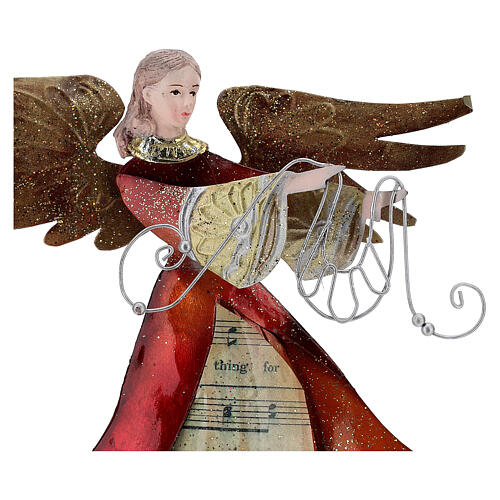 Ángel con cinta de perfil metal 28 cm 2
