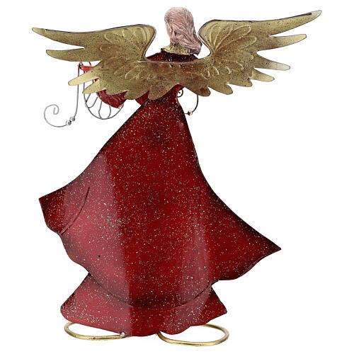 Ángel con cinta de perfil metal 28 cm 5