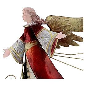 Ángel con pergamino estilizado metal 28 cm s2