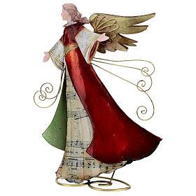 Ángel con pergamino estilizado metal 28 cm s4