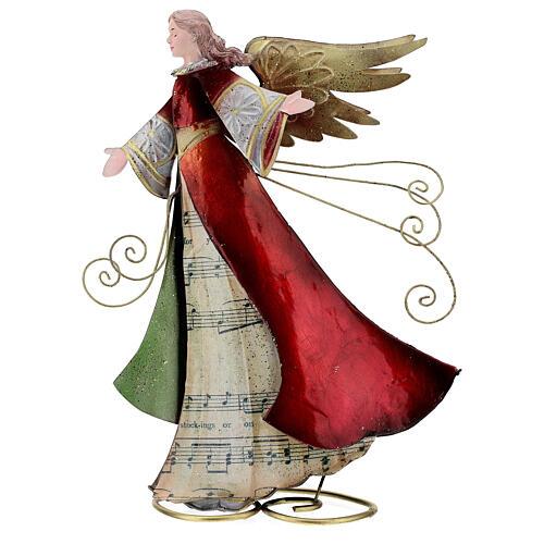 Ángel con pergamino estilizado metal 28 cm 1
