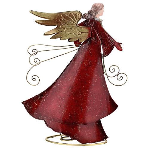 Ángel con pergamino estilizado metal 28 cm 5
