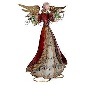 Ángel brazos abiertos metal partitura 28 cm s4