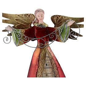 Ange bras ouverts métal partition 28 cm s2
