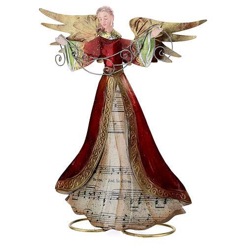 Anjo braços abertos com partitura 28 cm 3