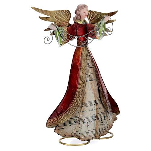 Anjo braços abertos com partitura 28 cm 4