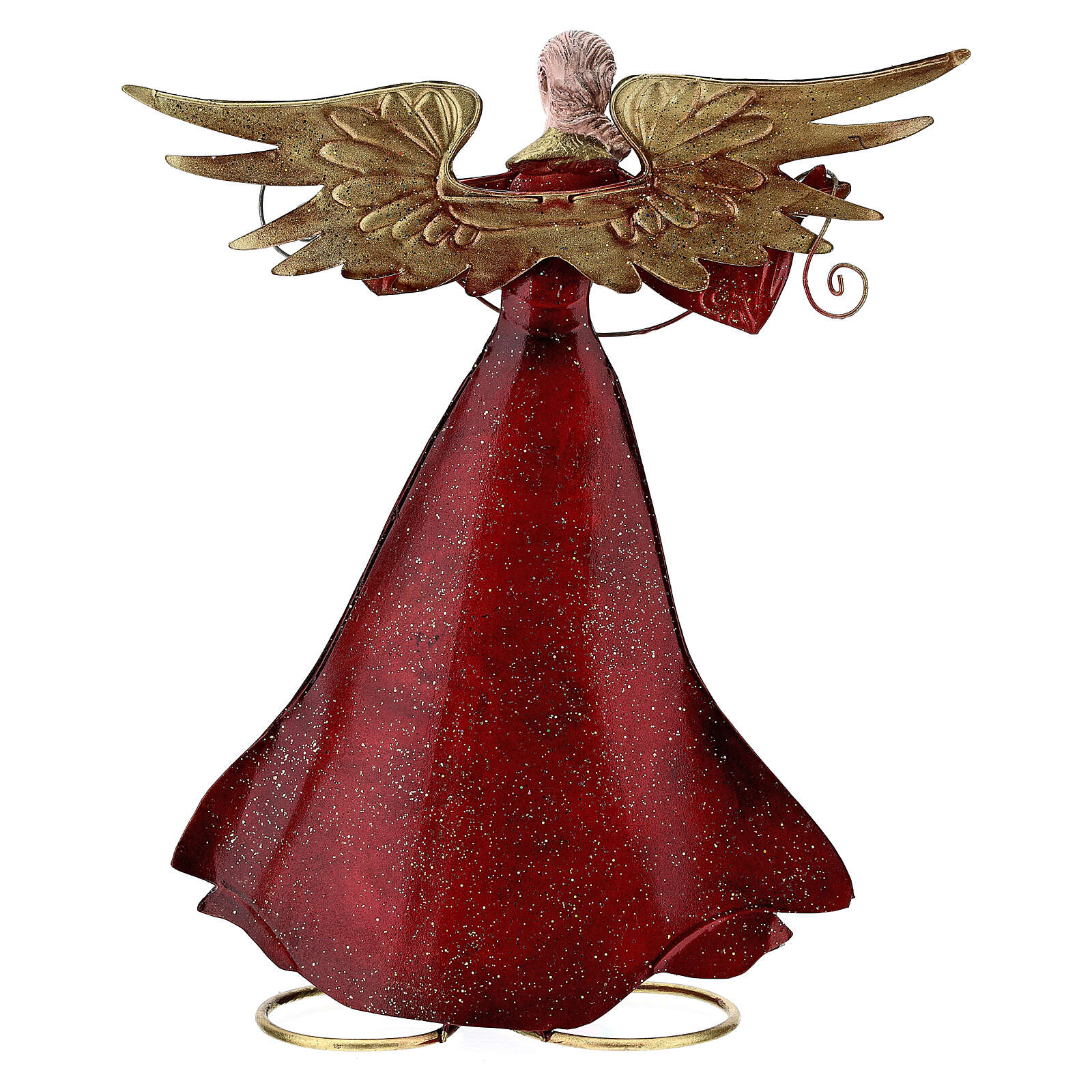 Angel with open arms metal statue, 28 cm 4