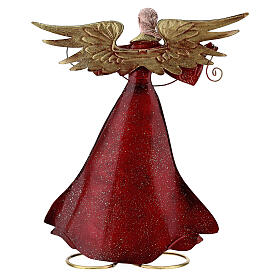 Angel with open arms metal statue, 28 cm s5