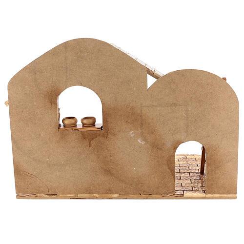 Cabana Natividade 14 figuras altura média 20 cm caixa de música madeira de oliveira Palestina 46x63x37 cm 15