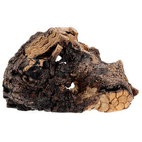 Cabaña madera natural Natividad 10 cm olivo Belén 20x35x15 cm s5
