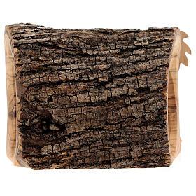 Capanna corteccia Natività 3,5 cm stilizzata legno ulivo Betlemme 10x10x5 cm s4
