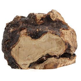 Cueva madera natural Natividad 6 cm olivo Belén 15x20x10 cm s4