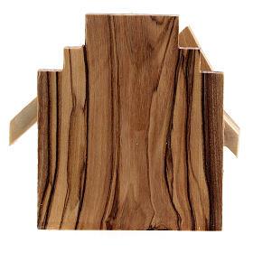 Krippenhütte aus Olivenholz Heilige Familie, 6,5 cm s4