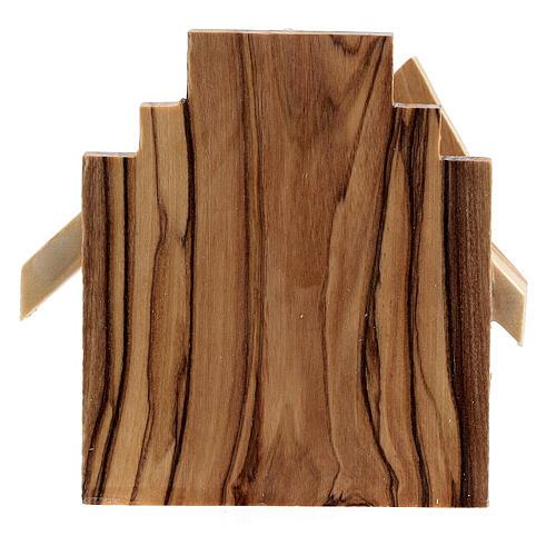 Cabaña Natividad figuras Sagrada Familia madera olivo 6,5 cm 4