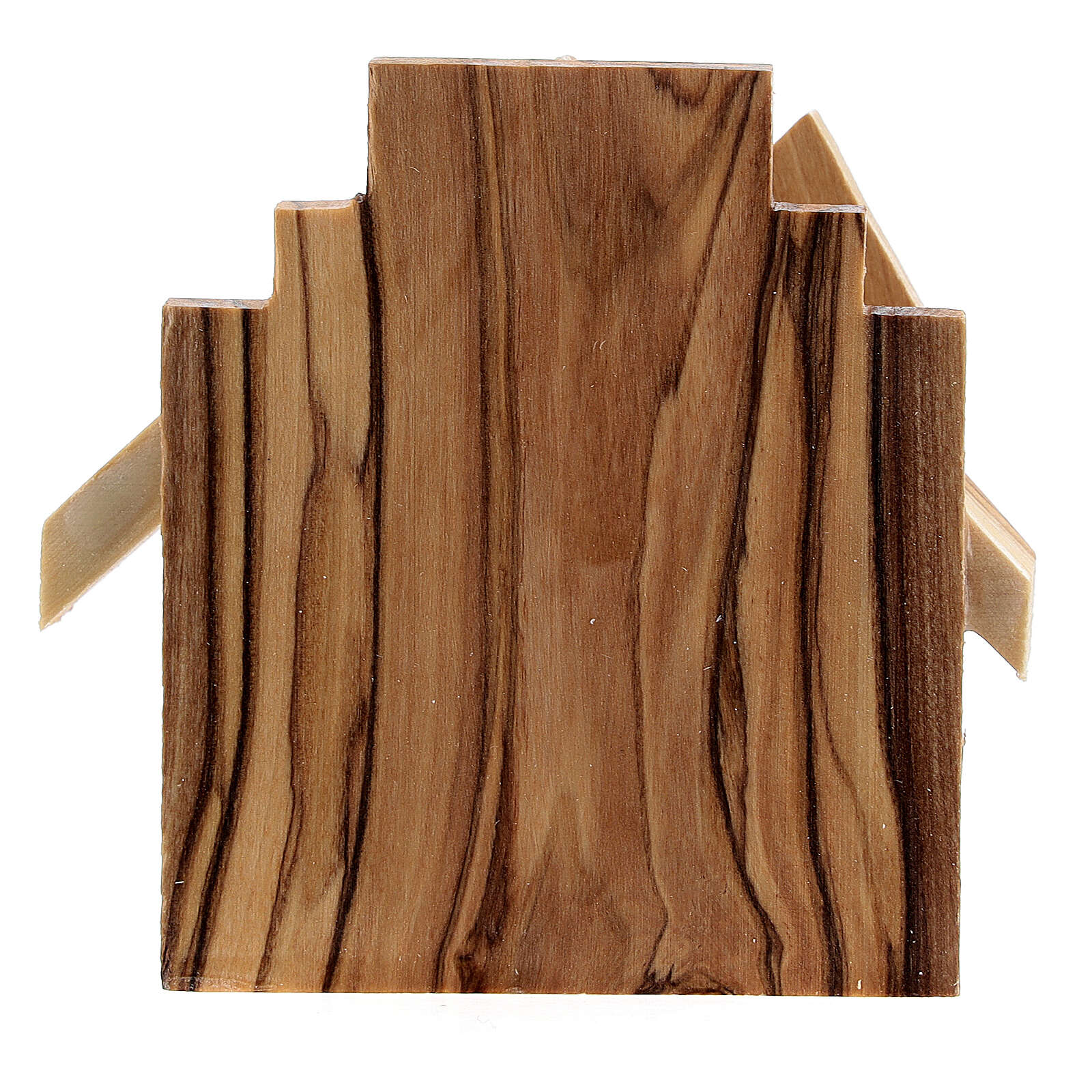 Cabana Natividade silhuetas Sagrada Família madeira de oliveira, 6,5x7x4,5 cm 4