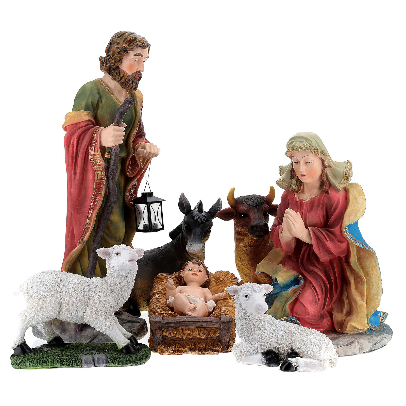 STOCK Nativity Scene painted resin with 90 cm figurines 4