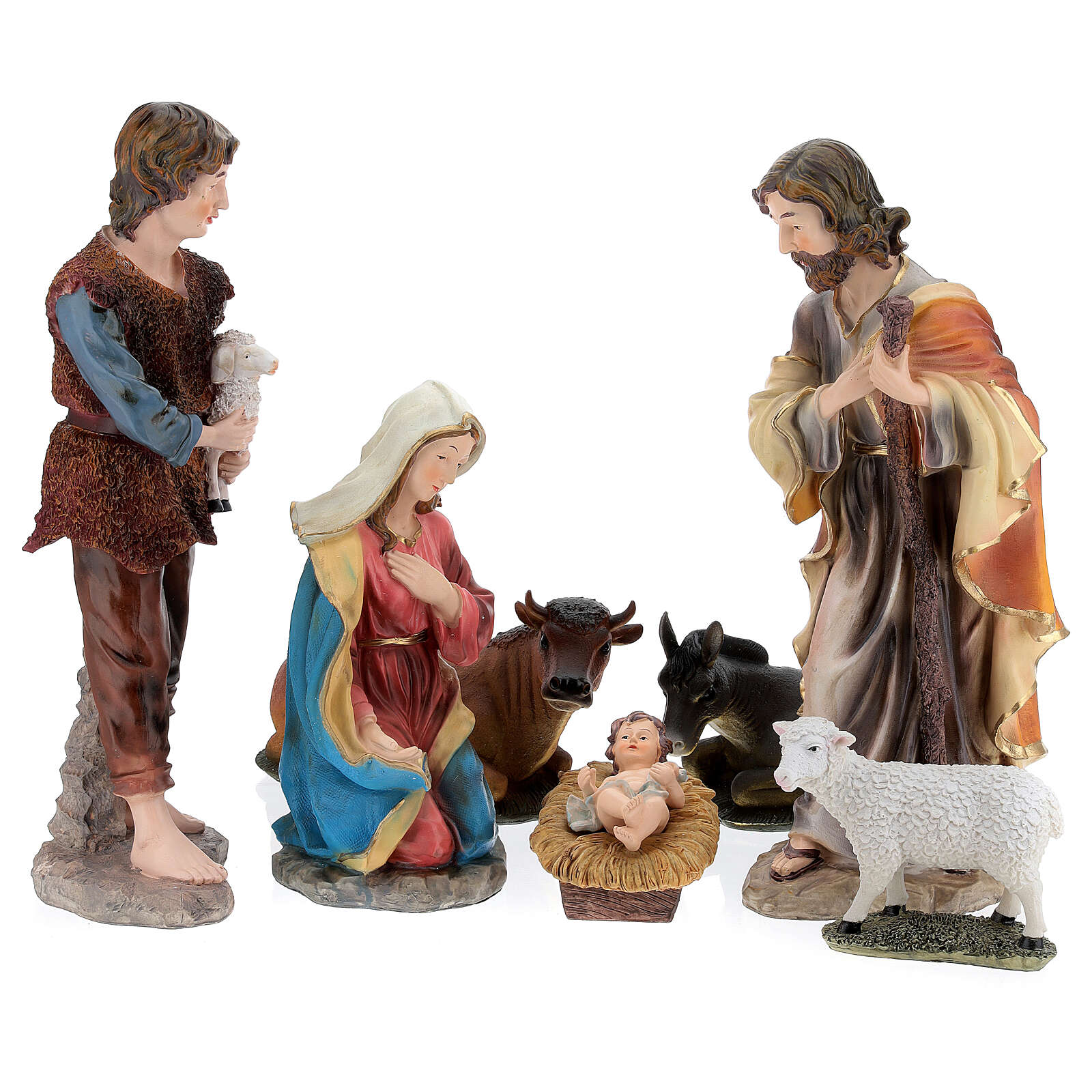 STOCK Nativity Scene painted resin with 50 cm figurines 4