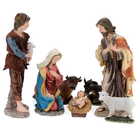 STOCK Nativity Scene painted resin with 50 cm figurines s1